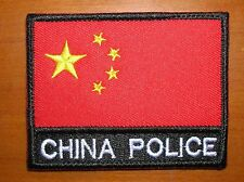 China Police Five Stars Red Flag,National Flag Patch,A