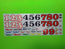 65 1965 Chevelle Stock Car 1/25 waterslide decal sheet sponsor numbers hurst lot