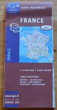 Carte IGN 1 000 000e France, 2003