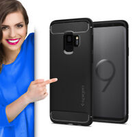 SPIGEN Rugged Armor Samsung Galaxy S9 Schutzhülle Case Cover Handy Etui Schwarz