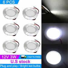 6pcs Recessed Ceiling Light For Rv Camper Interior Cool White 12v Led Lights