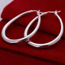 "Free shipping wholesale sterling solid silver fashion ""U"" hoop Earrings XLSE080"