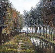 Reijinga Wiebe 1860 Groningen  -1930 Hoogstraten IMPRESSIONISMUS polderlandschap
