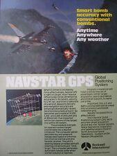 7/1982 PUB ROCKWELL NAVSTAR GPS USAF F-16 BOMB TARGET BRIDGE ORIGINAL AD