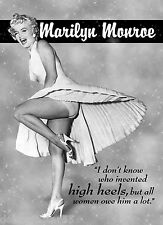 MARILYN MONROE Tin Sign 1950s Movie Icon Metal Sign Vintage Signs Retro Tin Sign
