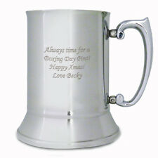 Personalised Stainless Steel Tankard: Engraved Free: Fathers Day, Birthdays, Dad