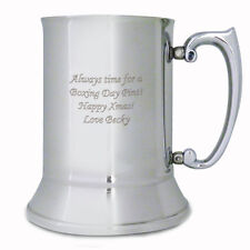 Personalised Stainless Steel Tankard: Engraved Free: Christmas, Birthdays, Dad