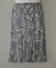 Linea by Louis Dell'Olio Pull-on Paisley Print Skirt Size S Lavender Multi