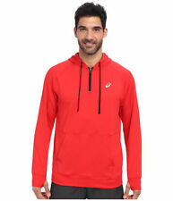 Asics ALL SPORT HOODY Mens 1/2 Zip Front Pullover Shirt Size Medium Red NEW