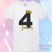 Personalised 1st 2nd 3rd 4th 5th Boys Birthday TSHIRT OUTFIT TOP Cake Smash Blac