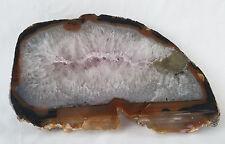 "Beautiful Large Polished Agate Slab Platter From Brazil  10"" x 6"" x 1 1/2"""