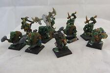 Warhammer Orcs & Goblins Savage Orcs metal army painted lot OOP (10)