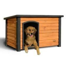Precision Pet Medium Outback Log Cabin Dog House Brown