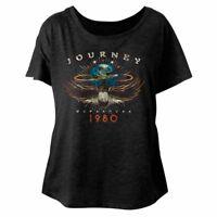 Journey Departures Tour 1980 Women's Dolman Top Rock Band Concert Tour T Shirt