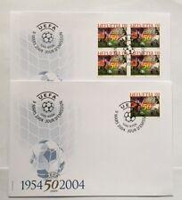 2 Enveloppes FDC timbres suisses YT CH1790 Zum CH 1111 UEFA année 2004