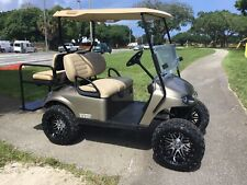 REFURB gold 2017 ezgo 48v txt 4 seat Passenger golf cart alloy rims lifted FAST