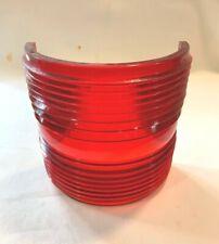 """Red Fresnel Glass Running Light Lens & 7 1/4"""" Tall"""