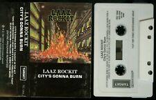 Laaz Rockit City's Gonna Burn USA Cassette Tape