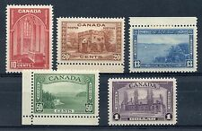 Weeda Canada 241-245 VF mint H set of KGVI 1938 Pictorial high values CV $240