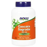 NOW Foods Cascara Sagrada, 450 mg, 250 Veg Capsules