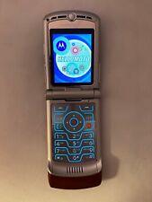 Motorola Razr V3M Alltel Razr, Wine Red, Talk Text Flip Cell Phone