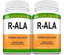 2x R-ALA R-Alpha Lipoic Acid 200mg RALA Antioxidant