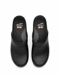 Womens Dansko XP 2.0 Black Waterproof Leather Professional Clog 3950470202 38
