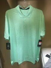 Nwt Mens Nike Golf Tiger Woods Tw Dri-Fit Vapor Striped Polo Shirt Sz Xl Green