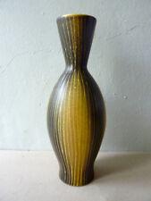 vase Saint Clément en céramique bicolore noire et jaune, vintage années 50- 60