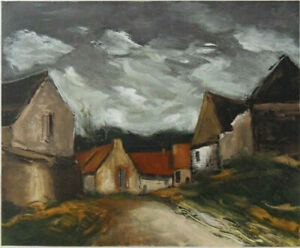 Maurice of Vlaminck: Village IN the Sarthe - Lithography Signed 1958, 2000ex