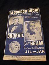 Partition La dondon dodue Bourvil Jacques Hélian Jil et Jan Music Sheet