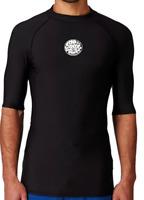 RIP CURL Men's Large Black Wetsuit Surf Rashguard Vest Flash Bomb Polypro New