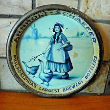 PRE PROHIBITION EARLY 1900s ARNHOLT-SCHAEFER BEER TIP TRAY / PHILADELPHIA, PA.