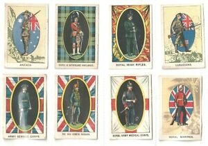 """'My Weekly' magazine 1915 printed'SILKS'  """"Our Soldier Boys""""  Regiments.(S88 )"""