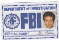 Fox MULDER X-Files / Area 51 type movie prop Drivers License fake ID card