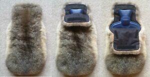 New Zealand Possum Fur Hot Water Bottle Cover - Natural Grey