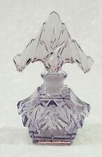 Antique Purple Czech Czechoslovakia Cut Glass Perfume Bottle