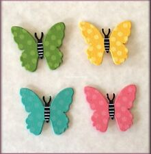 Butterfly with Dots Metal Magnets Set of 4 by Roeda® Free U.S. Shipping