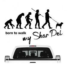 Shar Pei Faltenhund Chinese Evolution Auto Aufkleber Hund Folie Sticker Dog