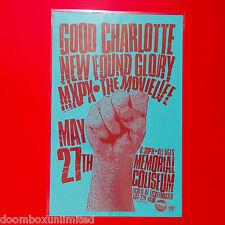 Good Charlotte 2003 Original 11x17 Concert Poster. Portland Oregon. Mint