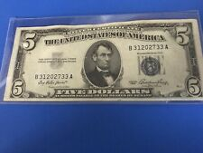 1953  $5 Five Dollar Blue Seal Silver Certificate