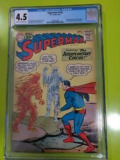 Superman 145 CGC 4.5 Silver Age DC 10 cent cover Supergirl and Krypto appearance