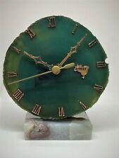 "Brazil Mini Watch Desk Clock Brazilian Marble Decor 5"" x 4"" Brasil"