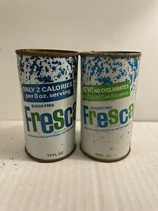 Two (2) Different Fresca Soda Juice Tab Top Soda Cans