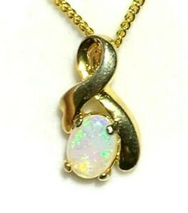 Natural Solid Fire Crystal Australian Opal Pendant Solid Silver Pendant YGP