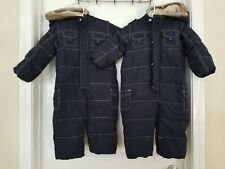 Lot Of 2 Gap Navy Blue Snow Suits 18-24 Months