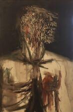 Lampe. Auto portrait. Huile sur toile . v462.