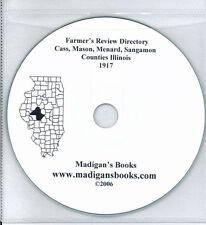 Sangamon Cass IL  Illinois directory genealogy history Springfield