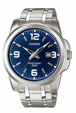 NEW Casio MTP1314D-2A Men's Enticer Stainless Steel Blue Dial Date Analog Watch