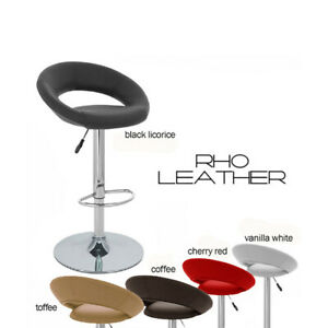 NEW! MODERN BARSTOOL - ADJUSTABLE BAR STOOL CHAIR - ADJUSTING HEIGHT RHO LEATHER